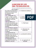 Evaluacion de Los Sistemas Tecnologicos Informatica 2016