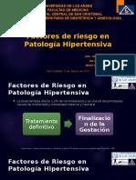 Factores de Riesgo para trastornos hipertensivos en el embarazo