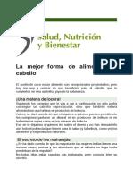 La Mejor Forma de Alimentar su Cabello (Salud, Nutrición y Bienestar)