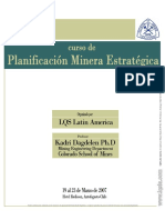 Strategic Open Pit Mine Planning Course