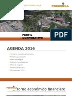 Minera Poderosa -Perfil Corporativo 2016 - Trabajo