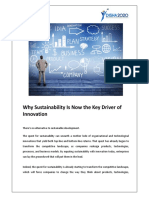 Why Sustainability is Now the Key Driver of Innovation