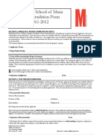 Admission - 2011-2012 Recommender Form