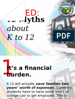 Busted K to 12 Myths