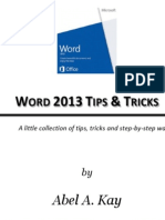 Word 2013 Tips and Tricks