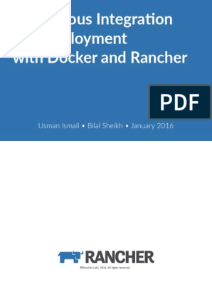 Continuous Integration and Deployment With Rancher and