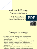 Nociones de Ecología
