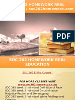 SOC 262 HOMEWORK Real Education - Soc262homework.com