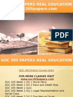 SOC 305 PAPERS Real Education - Soc305papers.com