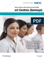 NEC Genesys Contact Centre Brochure