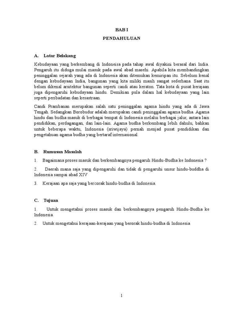 Makalah Tentang Masuknya Hindu Budha Ke Indonesia