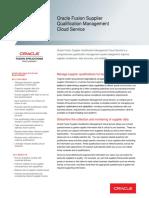 Supplier Qualification Management Datasheet