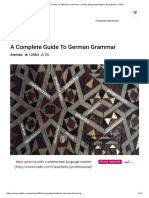 Guide to German Grammar