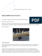 Daily Hadith From Fruit # 3 _ Don't Speak