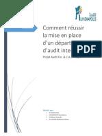 Comment Réussir La Mise en Place d'Un Département d'Audit Interne