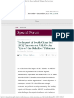 "The Impact of South China Sea (SCS) Tensions on ASEAN_ an ""Eye-Of-The-Beholder"""