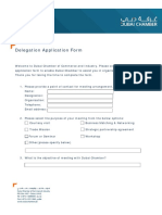 Dubai Chamber - Delegation Application Form