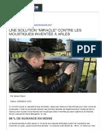 """Une solution """"miracle"""" contre les moustiques inventée à Arlesn """"miracle"""" contre les moustiques inventée à Arles"""