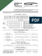 Graphoplex 620D Slide Rule Manual - French
