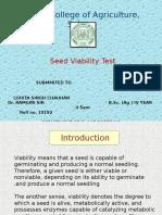 Seed Viabillty Test