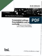 BS en 13964 2014 Suspended Ceilings - Requirements and Test Meth