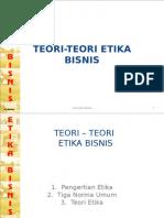 Teori-Teori Etika Bisnis - Bab Ia.ppt