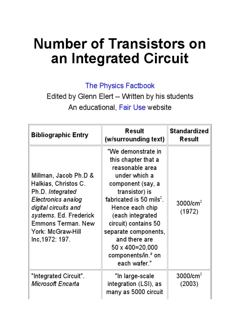 Ic Integrated Circuit Electronic Circuits Uses Of