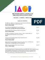 International Journal of Organizational InnovationFinal Issue Spring 2009