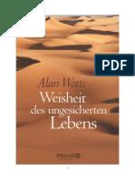 Watts, Weisheit Des Ungesicherten Lebens, Kapitel 1