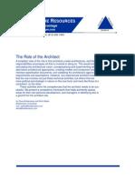 Architect Role