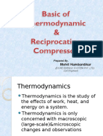 Basic of Thermo & Reciprocating Compressor