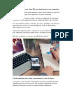 E-mail Marketing Como Fazer - Dicas Matadoras Para Suas Campanhas
