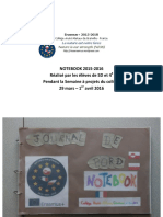 NIOS - Notebook 2015-2016 Semaine à Projets Avril 2016