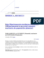 Parlamentul Si Guvernul Romaniei, Marionete Ale Papusarilor Planetari