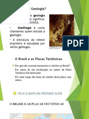 Estrutura Geologica E Mineração No Brasil Terreno Geologia