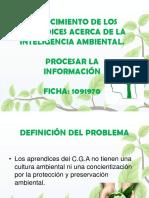 CONOCIMIENTO DE LOS APRENDICES ACERCA DE LA INTELIGENCIA AMBIENTAL.