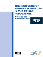 The Incidence of Hidden Disabilities in the Prison Population - UK 2005