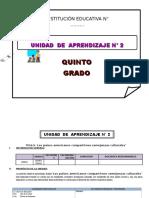 UNIDAD DE APRENDIZAJE 5° DE ED. PRIMARIA ABRIL 2016