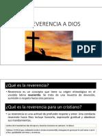 La Reverencia a Dios