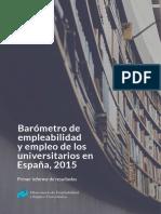 Barometro Empleabilidad y Empleo 2015