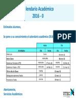Calendario Académico 2016-0
