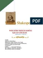 William Shakespeare - Wieczór Trzech Króli