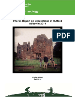 Rufford Abbey Excavations 2014 - Interim Report