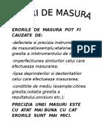 Erorile de Masura