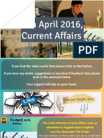 7 April 2016 Current Affairs for Competition Exams