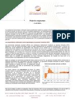 HCP Point de Conjoncture de l'Économie Marocaine Avril 2016
