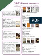 Butlletí Novetats Literatura Joves i Adults  3_2016