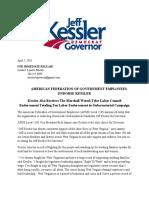 AFGE Local 2198 Endorse Kessler