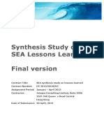 ESP3 SEA Synthesis Study April 2013 Final Report ENG Rev0