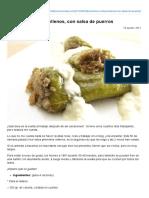 Pimientos Verdes Rellenos, Con Salsa de Puerros » Recetas Thermomix _ MisThermorecetas